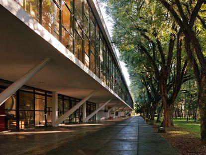 Área externa do museu, no Parque do Ibirapuera.