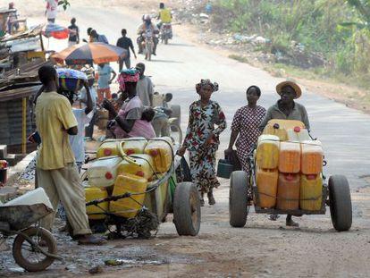 A cidade de Gueckedou (Guiné), um dos focos da epidemia do ebola.