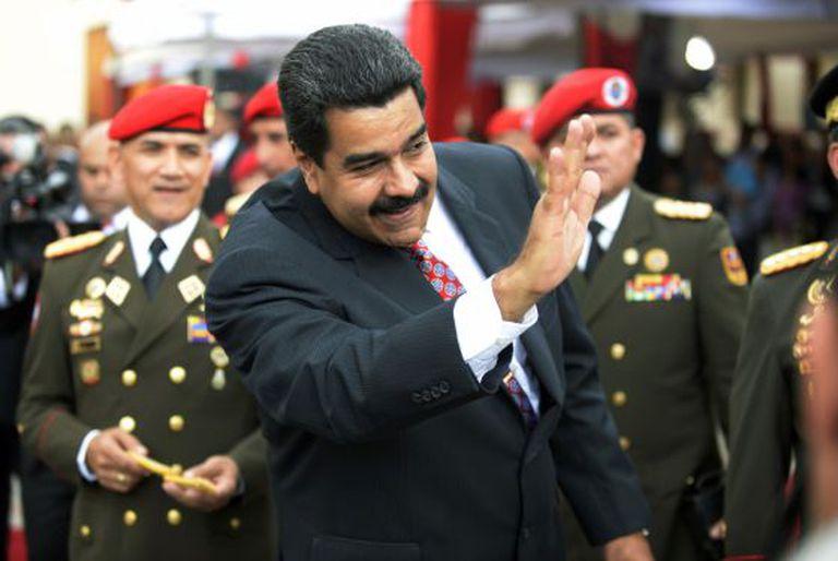 Nicolás Maduro, em um evento com militares.