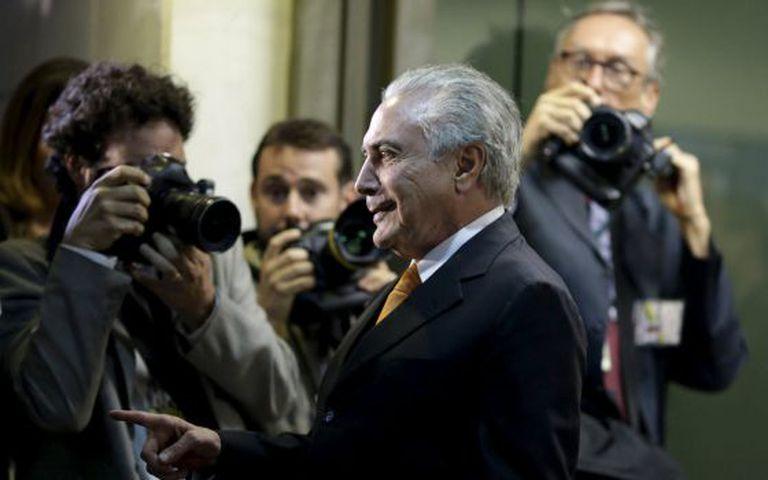 Temer após reunião com Dilma.