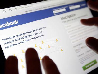 Página da rede social Facebook