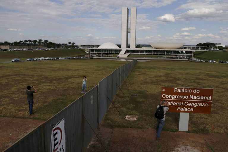 Vista do Congresso Nacional, em Brasília.