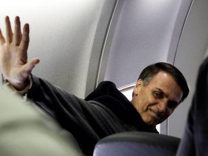 Bolsonaro após deixar o hospital em 29 de setembro.