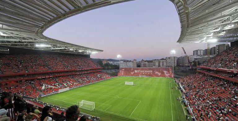 Vista do novo estádio de San Mamés.