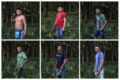 Integrantes do grupo de vigilantes do Território Indígena Maró.