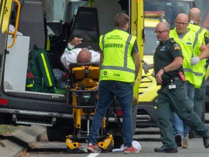 Um dos feridos no ataque a tiros em uma mesquita em Christchurch, na Nova Zelândia.
