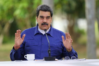 O presidente da Venezuela, Nicolás Maduro, durante um ato em Caracas, em 21 de abril.