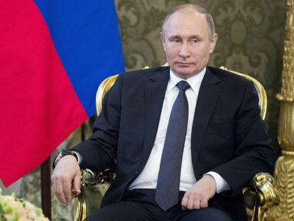O presidente russo, Vladimir Putin, na última quarta-feira.