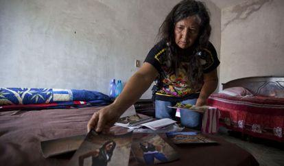Rita Magaña, mãe de María Mariscal, em cativeiro desde dezembro passado.