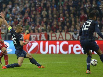 Robben, no terceiro gol do Bayern