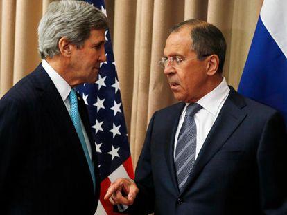Kerry e Lavrov, em Genebra.