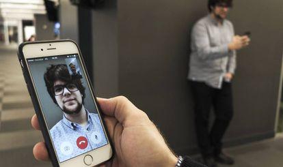 Teste de videochamada com Facetime.