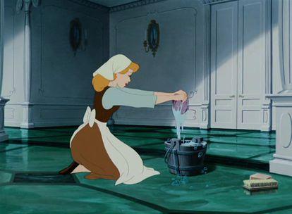 Imagem de 'Cinderela', desenho animado da Disney.