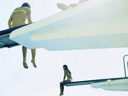 Karine Laval começou seu projeto em 2002 em uma piscina pública de Barcelona.