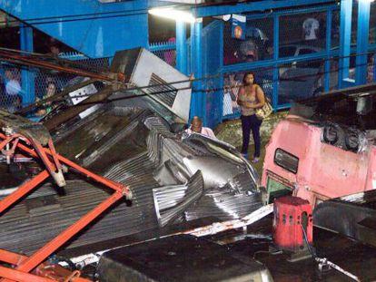 Local do acidente, no Rio.