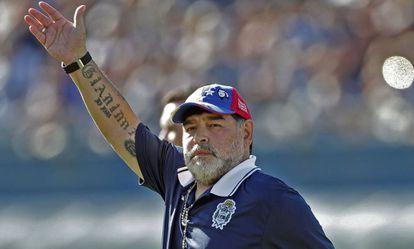 Diego Armando Maradona, em Buenos Aires, em 2 de novembro.