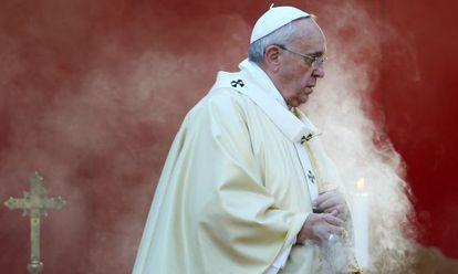 O papa Francisco numa cerimônia em Roma em 2014.