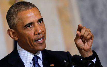 Obama durante seu discurso em Washington.