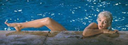 Uma das imagens mais célebres das que Lawrence Schiller fez de Marilyn Monroe na rodagem de 'Something's got to give'.
