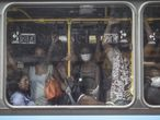 27 June 2020, Brazil, Rio de Janeiro: People are seen packed inside a buus amid easing restrictions despite the high number of deaths due to the coronavirus pandemic. Photo: Fernando Souza/ZUMA Wire/dpa