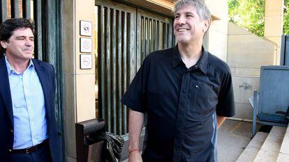 O ex-vice-presidente Amado Boudou no momento de sua prisão em dezembro.