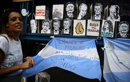 Protesto contra demissões do Centro Cultural Kirchner.