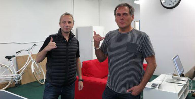 Micha Benoliel (à esq.) e Christophe Daligault.