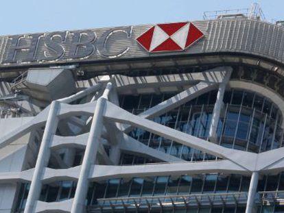 Sede que o banco HSBC em Hong Kong.