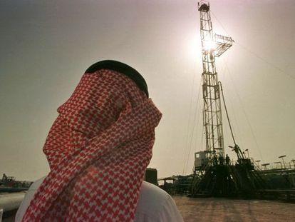Instalação petrolífera da empresa saudita Aramco.