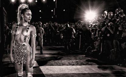 Miley Cyrus, no Video Music Awards em agosto.