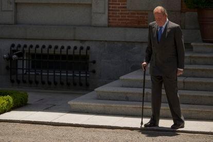 Juan Carlos I, no Palácio de La Zarzuela em junho de 2014.