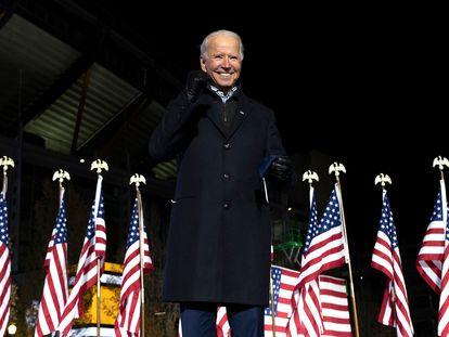 O presidente eleito dos EUA, Joe Biden.