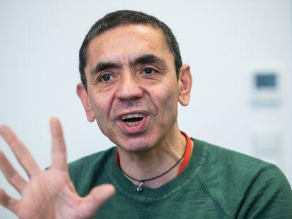 Ugur Sahin, executivo-chefe da BioNTech, durante uma entrevista no fim do ano passado.