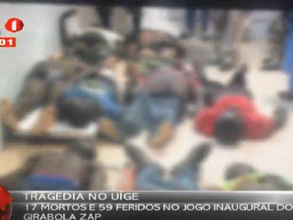 Imagem de um vídeo publicado em Youtube pela televisão pública de Angola.