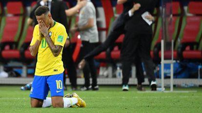 Neymar, após a eliminação do Brasil contra a Bélgica.