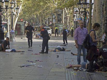 Vítimas no chão