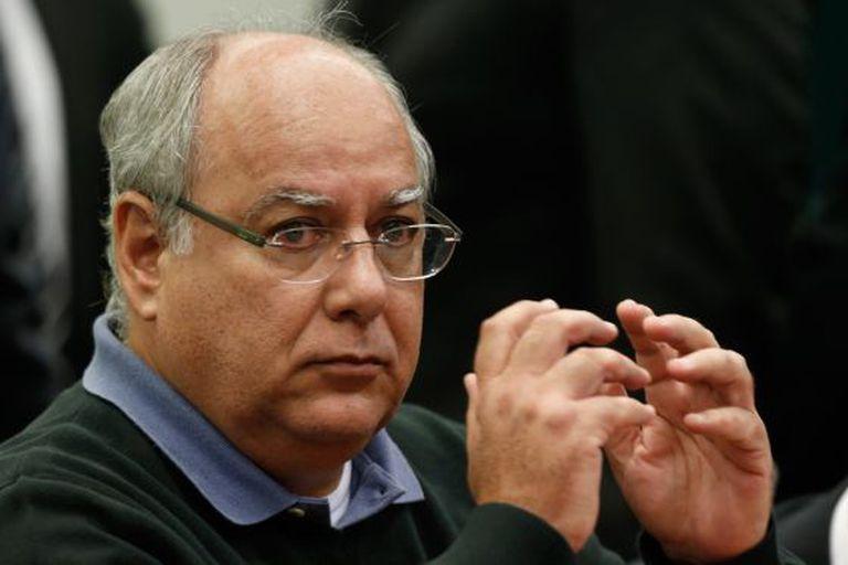 O ex-diretor da Petrobras Renato Duque, na CPI que investiga a empreiteira, no dia 17.