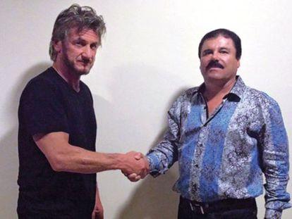 Sean Penn e El Chapo Guzmán.