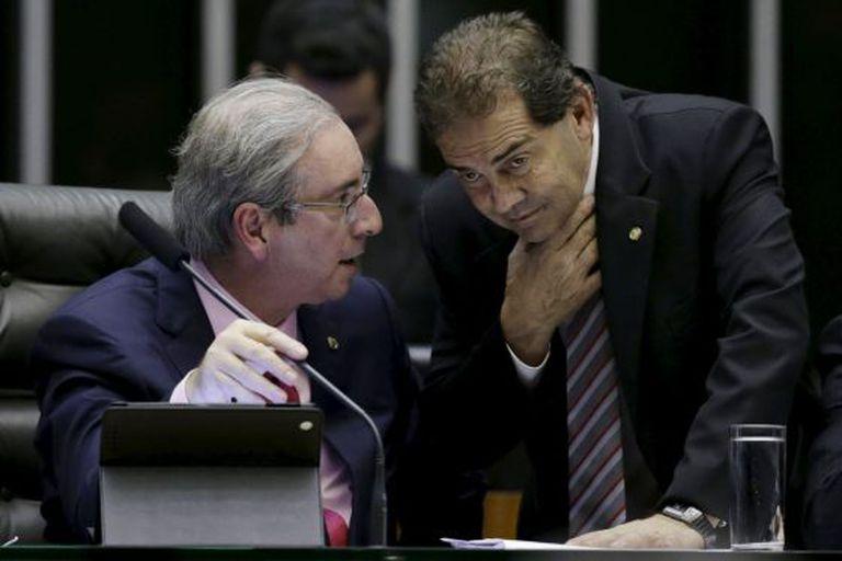 Eduardo Cunha e Paulo Pereira da Silva na terça-feira.