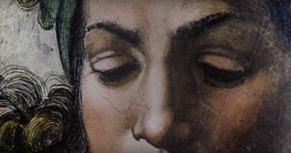 Detalhes das imagens que podem ser vistas no livro 'The Sistine Chapel'.