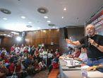 O ex-presidente Lula, em um encontro com apoiadores em Minas Gerais, em 24 de janeiro.