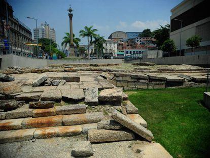 Cais do Valongo, no centro do Rio.