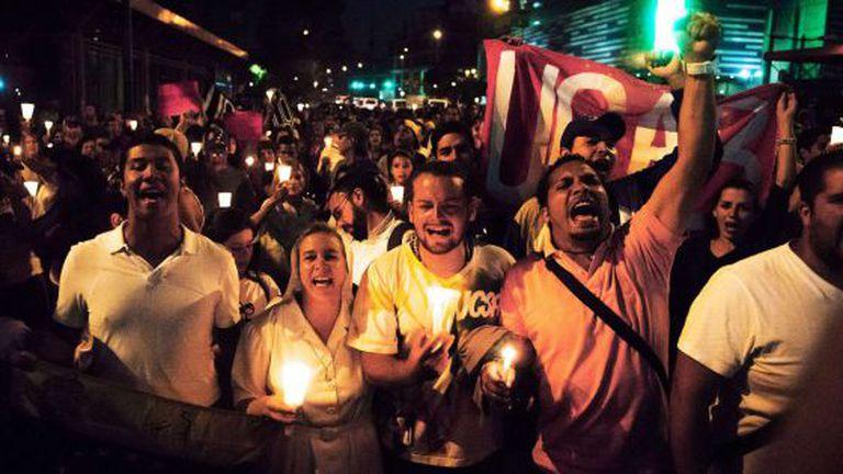 Protesto em Caracas contra o Governo.