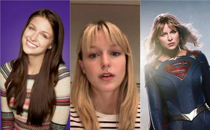 Melissa Benoist, em 'Glee', em seu vídeo no Instagram e em 'Supergirl'.