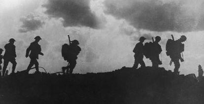 Soldados britânicos na I Guerra Mundial.