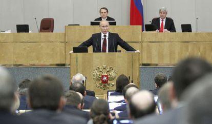Putin, na Duma em abril.