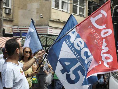 Partidários das duas candidaturas no Rio.