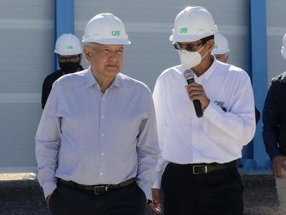 O presidente Andrés Manuel López Obrador durante um evento no Estado da Baixa Califórnia, em fevereiro.