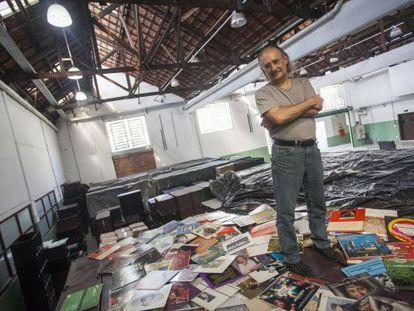 Zero Freitas e sua coleção, em São Paulo