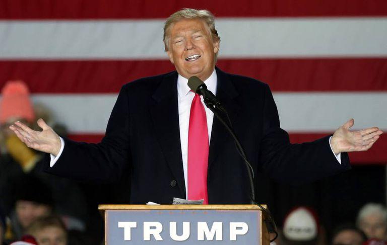 Donald Trump, no dia 4 de abril em.